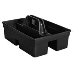 Rubbermaid® Commercial CADDY CARRY 6-CS BK EXECUTIVE CARRY CADDY, 2-COMPARTMENT, PLASTIC, 10.75W X 6.5H, BLACK