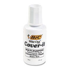 BIC Cover-It Correction Fluid, 20 ml Bottle, White