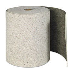 "SPC® SORBENTS ROLL 28.5""X150' Re-Form Plus Sorbent-Pad Roll, 62gal, 28 1-2"" X 150ft, Gray"