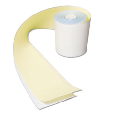 "AmerCareRoyal® REGISTER RL 3""X90' WH NO CARBON REGISTER ROLLS, 3"" X 90 FT, WHITE-YELLOW, 30-CARTON"