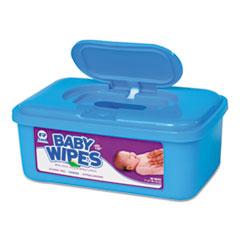 AmerCareRoyal® WIPES BABY ALOE TUB SCNT Baby Wipes Tub, Scented, White, 80-tub, 12 Tubs-carton