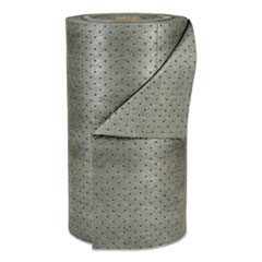 "SPC® SORBENT OIL 30""X150'RL Mro Plus Heavy Sorbent-Pad Roll, 49gal, 30"" X 150ft, Gray"