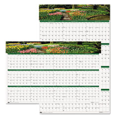 House of Doolittle Gardens of the World Reversible/Erasable Wall Calendar, 24 x 37, 2015