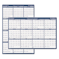 House of Doolittle Poster Style Reversible/Erasable Academic Yearly Calendar, 24 x 37, 2014-2015