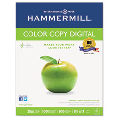 Hammermill Copy Paper, 100 Brightness, 28lb, 8 1/2 x 11, Photo White, 500/Ream