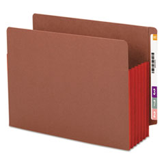 Smead 5 1/4 Inch Accordion Expansion File PocketsStraight Tab, Letter, Red, 10/Box