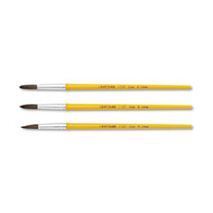 Crayola Watercolor Brush Set, Size 8, Camel Hair Blend, Round, 3/Pack