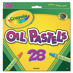 Crayola Oil Pastels,28-Color Set, Assorted, 28/Pack