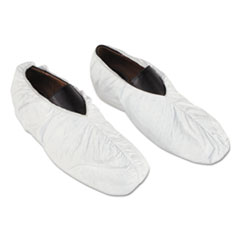 DuPont® PROTECTOR SHOE COVER SM Tyvek Shoe Covers, White, One Size Fits All, 200-carton
