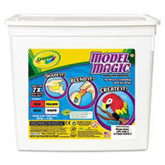 Crayola Model Magic Modeling Compound, 8 oz each Blue/Red/White/Yellow, 2lbs