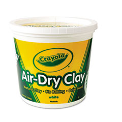 Crayola Air-Dry Clay, White, 5 lbs