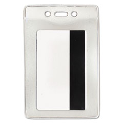 Advantus Security ID Badge Holder, Vertical, 2 5/8w x 3 7/8h, Clear, 50/Box