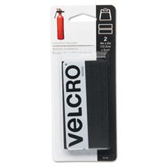 Velcro Industrial Strength Sticky-Back Hook and Loop Fastener Strips, 4 x 2, Black