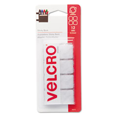 Velcro Sticky-Back Hook and Loop Square Fasteners on Strips, 7/8
