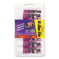 Avery Permanent Glue Stics, Purple Application, .26 oz, 18/Pack