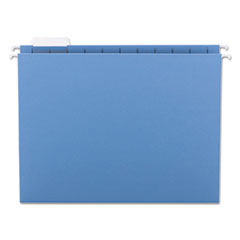 Smead Hanging File Folders, 1/5 Tab, 11 Point Stock, Letter, Blue, 25/Box