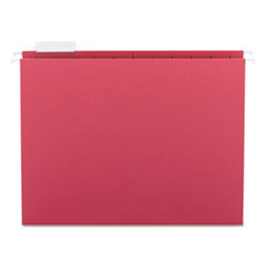 Smead Hanging File Folders, 1/5 Tab, 11 Point Stock, Letter, Red, 25/Box
