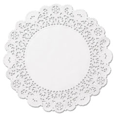 """Hoffmaster® DOILY 4IN RND WH Brooklace Lace Doilies, Round, 4"""", White, 2000-carton"""