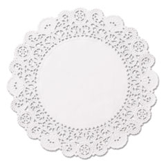 """Hoffmaster® DOILY 5IN RND WH Brooklace Lace Doilies, Round, 5"""", White, 2000-carton"""