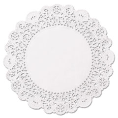 """Hoffmaster® DOILY RND 6IN WH Brooklace Lace Doilies, Round, 6"""", White, 2000-carton"""