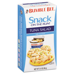 Bumble Bee On-The-Go Meal Solution w/Crackers, Tuna Salad, 3.5oz, 12/Carton