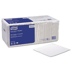 Tork Luncheon Napkins, 13d x 11 1/2w, White, 6000/Carton