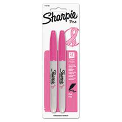 Sharpie Pink Ribbon Fine Tip Permanent Marker, Pink, 2/Pack