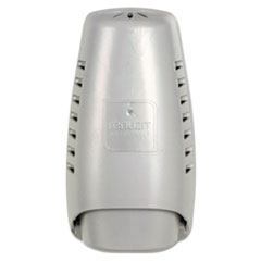 Renuzit Wall Mount Air Freshener Dispenser, 3 21/32 x 3 1/4 x 7 1/4, Silver