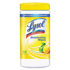 LYSOL Brand Disinfecting Wet Wipes, Lemon and Lime Blossom 7 x 8, 80/Canister