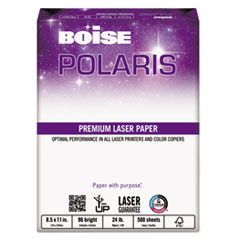 Boise POLARIS Premium Laser Paper, 3-Hole, 96 Bright, 24lb, Letter, White, 500 Sheets