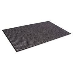 Crown Oxford Wiper Mat, 48 x 72, Black/Gray