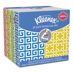 Kleenex Facial Tissue Pocket Packs, 3-Ply, White, 10/Pouch, 8 Pouches/Pack