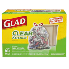 CLO 78543 Glad® Recycling Tall Kitchen Drawstring Trash Bags CLO78543