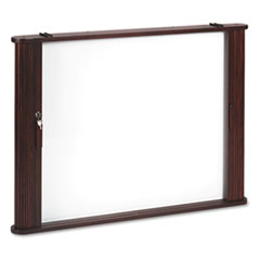 Best-Rite Conference Room Cabinet, Magnetic Dry Erase Board, 44 x 4 x 32, Mahogany