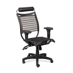 Seatflex Series Swivel/Tilt Chair w/Headrest & Arms, Black