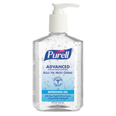 PURELL Advanced Instant Hand Sanitizer, 8oz Pump Bottle