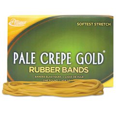 Alliance Pale Crepe Gold Rubber Bands, Size 117B, 7 x 1/8, 1lb Box