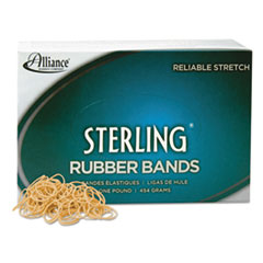Alliance Sterling Ergonomically Correct Rubber Band, #10, 1-1/4 x 1/16, 5000 Bands/1lb Bx