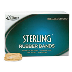 Alliance Sterling Ergonomically Correct Rubber Bands, #14, 2 x 1/16, 3100 Bands/1lb Box
