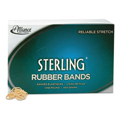 Alliance Sterling Ergonomically Correct Rubber Bands, #8, 7/8 x 1/16, 7100 Bands/1lb Box