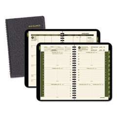 AT-A-GLANCE Recycled Weekly/Monthly Appointment Book, 4 7/8 x 8, Black, 2016