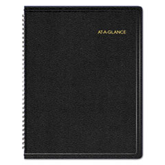 AT-A-GLANCE Triple View Weekly/Monthly Appointment Book, 8 1/4 x 10 7/8, Black, 2016