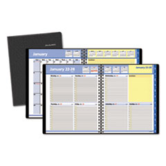 AT-A-GLANCE QuickNotes Weekly/Monthly Appointment Book, 8 x 9 7/8, Black, 2016