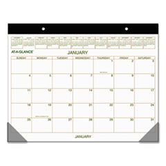 AT-A-GLANCE Two-Color Desk Pad, 22 x 17, 2016
