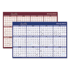 AT-A-GLANCE Reversible Horizontal Erasable Wall Planner, 36 x 24, 2016