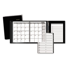 AT-A-GLANCE Plus Monthly Planner, 6 7/8 x 8 3/4, Black, 2015