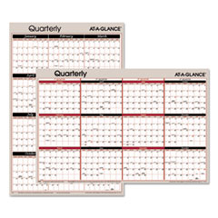 AT-A-GLANCE Vertical/Horizontal Erasable Quarterly Wall Planner, 24 x 36, 2016