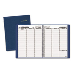 AT-A-GLANCE Weekly Appointment Book, 8 1/4 x 10 7/8, Navy, 2016-2017