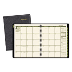 AT-A-GLANCE Recycled Monthly Planner, 6 7/8 x 8 3/4, Black, 2016