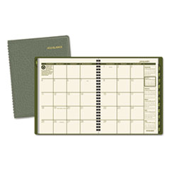 AT-A-GLANCE Recycled Monthly Planner, 6 7/8 x 8 3/4, Green, 2016